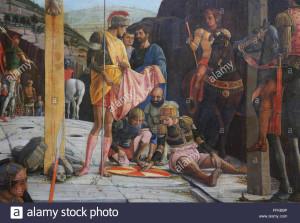 la-crocifissione-parte-centrale-della-predella-1457-1405-di-andrea-mantegna-1431-1506-soldati-giocare-dice-gesu-tunica-ffkb9p